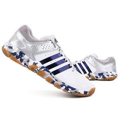sports shoes cebd9 fb082 adidas Quckforce 5.1 Mens Badminton Shoes Training Gray Blue Sports NWT  DB0900 adidas Badminton Shoes