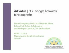 Google AdWords for Nonprofits: A Quick Tutorial  Presented by Maren Dougherty, former Director of External Affairs at Balboa Park Online Collaborative