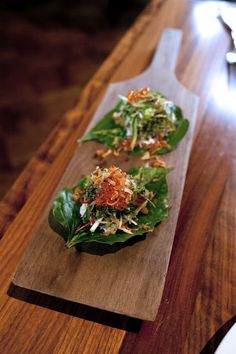 Cha Pu leaf with smoked trout at Farang