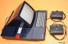 The Radiola JET 27, a Videopac console. Videopac was the name under which machines compatible with Magnavox's Odyssey² were marketed in Europe.