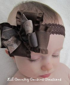 Ah Jordan would love this! Ribbon Hair, Ribbon Bows, Hair Bow, Ribbons, Camo Bows, Cowgirl Baby, Baby Girl Hair Accessories, Realtree Camo, Bow Tutorial