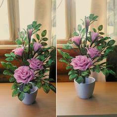 Фотографии Цветы из бисера. Бисероплетение.
