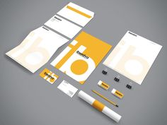 Iberalva - Identity Design - Architects, Construction, Logo, Stationary, Typographic, Yellow, Black, White