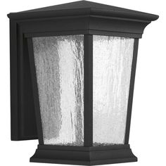 Progress Lighting Arrive H Black LED Outdoor Wall Light ENERGY STAR at Lowe's. Arrive LED lanterns feature a die-cast aluminum, powder coated frame and heavily textured glass. One-light medium wall lantern. Black Outdoor Wall Lights, Outdoor Wall Lantern, Outdoor Wall Sconce, Outdoor Wall Lighting, Outdoor Walls, Led Fixtures, Led Lantern, Traditional Lighting, Progress Lighting
