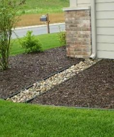 30 Best Ideas For Yard Drainage Solutions Backyards Mulches Landscaping With Rocks, Front Yard Landscaping, Backyard Landscaping, Landscaping Ideas, Backyard Ideas, Landscaping Costs, Inexpensive Landscaping, Country Landscaping, Porch Ideas