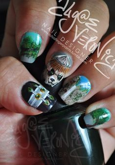 WoW Mists Of Pandaria Themed Fingernail Paintings. #warcraft