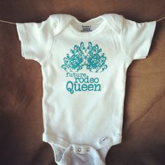 Future Rodeo Queen baby onesie size 39 months by simplyhco on Etsy, $12.00