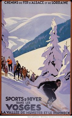 Sports d'hiver dans les Vosges. La vallee de Munster et le Honeck, Roger Broders, Chemins de fer d'Alsace et de Lorraine