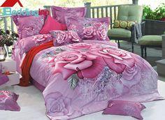 Charming Vivid Pink #Roses Print 3D Duvet Cover Sets