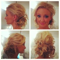 Modern messy bridal hair