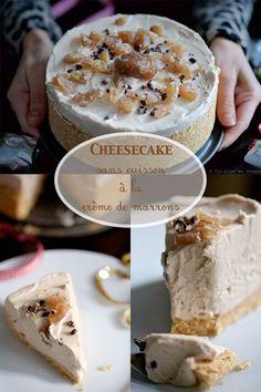 No-bake cheesecake with chestnut cream - Allerecipe Pumpkin Cheesecake Recipes, Easy Cake Recipes, Best Dessert Recipes, Easy Desserts, Sweet Recipes, My Dessert, Pumpkin Dessert, Cookies Et Biscuits, Cookies Fourrés