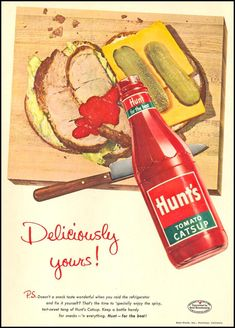 HUNT'S TOMATO CATSUP - WOMAN'S DAY 1955