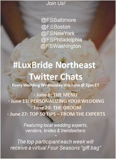 #LuxBride Northeast Twitter Chats - Every Wednesday in June!
