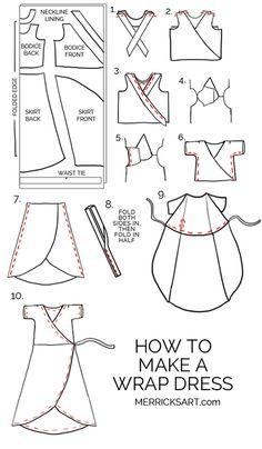 How to make a wrap dress | merricksart.com