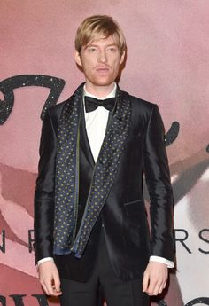 just another trash can — Domhnall Gleeson at The Fashion Awards 2016