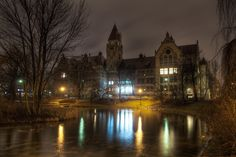 The Faculty of Architecture, University of Technology in Wrocław, Poland. If you look closely you'll see sleeping ducks :)