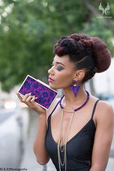 Collier Cressy Pinky, bijoux en wax (pagne africain)