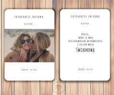 kartka zdrapka ze zdjęciem dla swiadkowej, kartka dla świadkowej, kartka dla przyjaciólki Polaroid Film, It, Movies, Movie Posters, Wedding Ideas, Weddings, Films, Film Poster, Wedding