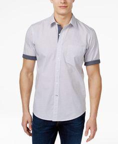 d97e94c85fb Club Room Men s Mini-Mosaic Short-Sleeve Shirt
