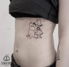 moomin tattoo, ink, муми-тролль