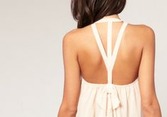 cream flowy blouse with straps