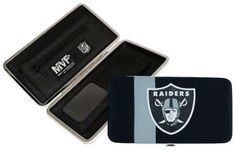 Oakland Raiders NFL Shell Mesh Wallet by Little Earth. $19.99. The Shell Mesh Wallet can function as a mini purse for a dinner out or a wallet that goes into a larger bag. Full of features such as 5 credit card pockets clear ID sleeve zip change pocket and two full-length pockets this wallet is a winner at the game or any time!