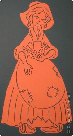Картина панно рисунок Вырезание Золушка Бумага фото 1