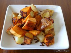 Delicious Sides, Roasted Potatoes and Brussel Sprouts | Joyful Homemaking