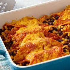 Black Bean Enchiladas are great.  I added leftover roast inside and added sour cream at serving. Ummmm