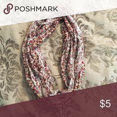 Floral infinity scarf Floral infinity scarf Accessories Scarves & Wraps