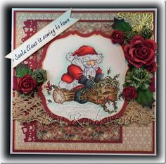 Hi there, another Christmas card from me today, this one is for this week's Wild Orchid Crafts Challenge The image was coloured with cop. Christmas Animals, All Things Christmas, Christmas Themes, Christmas Crafts, Christmas 2017, New Year Greeting Cards, Greeting Cards Handmade, Fall Cards, Xmas Cards