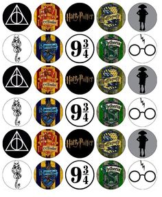 30 X Harry Potter Symbols Cupcake Toppers Edible Wafer Paper Fairy Cake Harry Potter Cupcakes, Party Harry Potter, Harry Potter Cupcake Toppers, Gateau Harry Potter, Harry Potter Fiesta, Estilo Harry Potter, Harry Potter Thema, Cumpleaños Harry Potter, Harry Potter Symbols