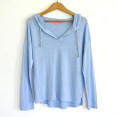 Sudadera lino azul