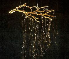 Stargazer Cascade Falls Lights, PlugIn is part of Branch decor - These Terrain exclusive LED string lights brighten your house inside and out With flexible wires, they can be scattered and strung anywhere Shop today! Autumn Lights, Holiday Lights, Gold Christmas Lights, Indoor Christmas Lights, Christmas Tree Branches, Cascade Falls, Wedding Decorations, Christmas Decorations, Diy Christmas