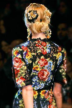 Dolce & Gabbana 2012 cross-stitched dress.