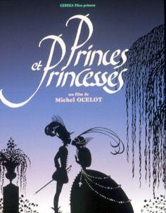 Princes et princesses est un film de Michel Ocelot avec Arlette Mirapeu, Philippe Cheytion. Synopsis : Suite de six contes en theatre d'ombre. Deux enfants curieux se retrouvent tous les soirs dans un cinema desaffecte et, avec l'aide d'un vieux technic