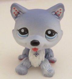 Littlest-Pet-Shop-LPS-Grey-Blue-Husky-1617 - 9.99
