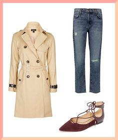 0076d95a3da8 Read these fall styling tips to see how to pair a trench coat, fancy flats