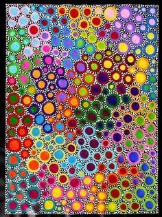 Risultati immagini per sally clark aboriginal art Aboriginal Dot Painting, Dot Art Painting, Encaustic Painting, Mandala Art, Rainbow Art, Rainbow Painting, Australian Art, Indigenous Art, Art Lessons