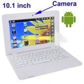WolVol NEW (Android 4.0 - 1GB RAM) SOLID WHITE 10inch Laptop Notebook Netbook PC, WiFi and Camera with Google Play (Includes Mini PC Mouse)    Short Description: * Slim and light weight WHITE mini laptop Android 4.0, with build-in 1.3 MP CAMERA, 4GB storage, WiFi...  $229.99 | $179.94