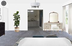 Contemporary, Eclectic, and Transitional Bedroom by Havenly