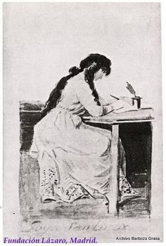 La Duquesa de Alba Redactando su Testamento por Francisco de Goya, 1795-1797. La duquesa murió prematuramente a los 40 años.