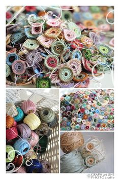nana circles lookes a bit like Sophi Digard  I have tons of perle cotton. Great idea for using them up.