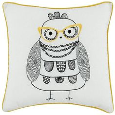 Owl Applique Cushion (795 PHP) ❤ liked on Polyvore featuring home, home decor and throw pillows
