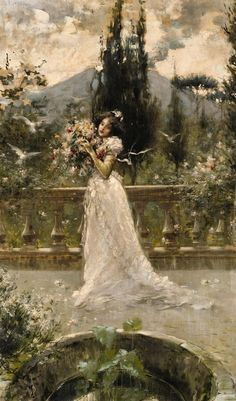 View A Woman in a Garden by Salvatore Postiglione on artnet. Browse upcoming and past auction lots by Salvatore Postiglione. Bel Art, Art Ancien, Baroque Art, Italian Painters, Impressionism Art, Victorian Art, Classical Art, Italian Art, Renaissance Art