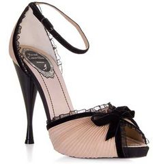 i <3 shoes that look like lingerie! these would pair perfectly with my moulin rouge reds.