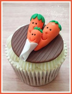Carrot  Cake Cupcake! This will be perfect for aiden!! Since he wants a carrot cake for his birthday