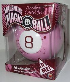 NEW Valentine Magic 8 Ball - Pink