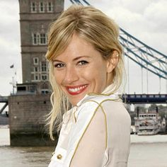 Messy blonde hair, red lips, england...