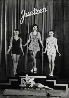 Jantzen swimwear models, 1930's, Jantzen was a big Portland company way back when, hence Jantzen Beach etc
